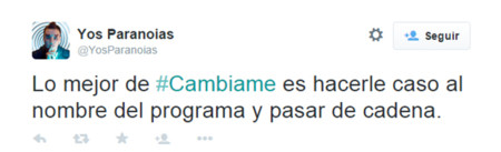 Cambiame Twitter Telecinco 2
