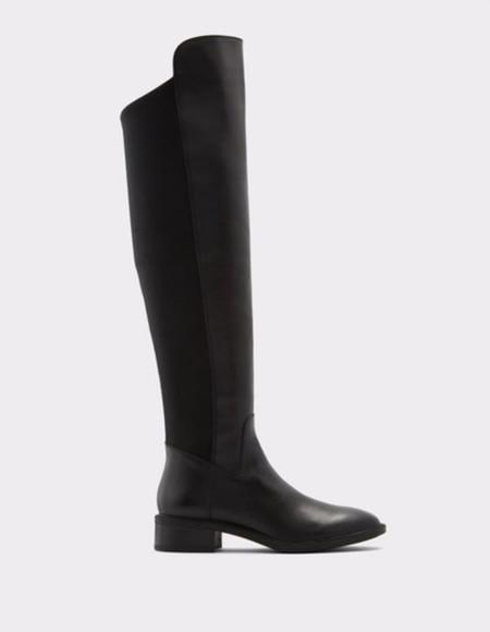Botas De Mujer Aldo Altas En Color Negro Con Piel De Ante
