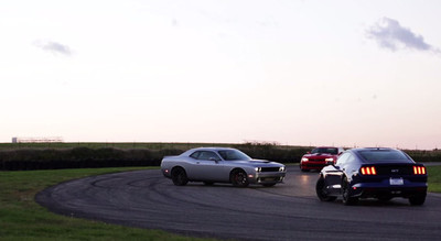Ford Mustang GT vs Dodge Challenger SRT Hellcat vs Chevrolet Camaro Z28