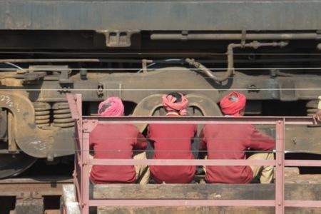 Caminos de la India: tren