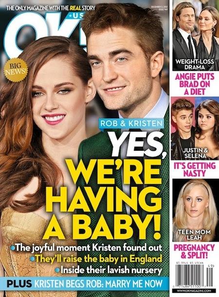 ¿¡Qué Robert Pattinson y Kristen Stewart van a ser padres?!