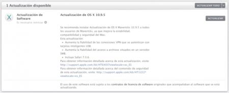 Apple lanza lo que suponemos será la última actualización para OS X Mavericks