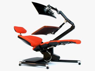 Trabajar de pie era el no va más, pero este escritorio te permite trabajar tumbado