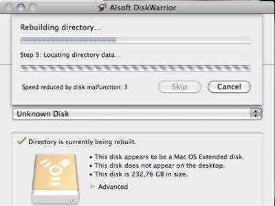Cómo reparar un disco en Mac OS X con DiskWarrior