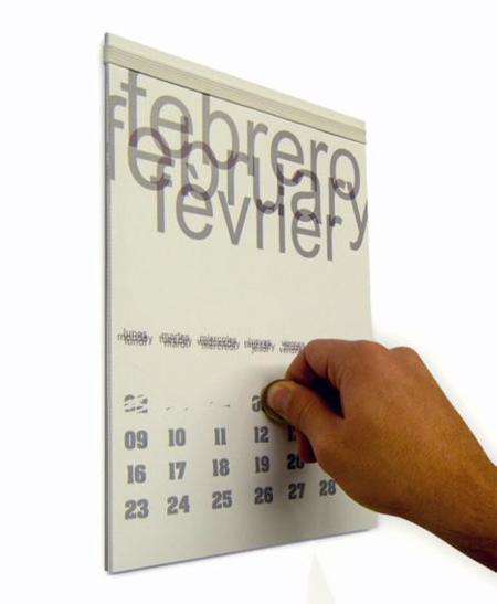 Scratchender, calendario que se raspa