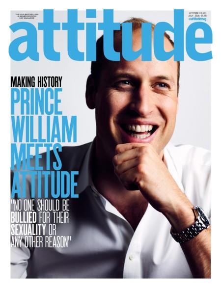 El Príncipe Guillermo es la sonriente portada de 'Attitude'