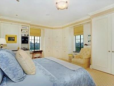 El dormitorio de Alec Baldwin.