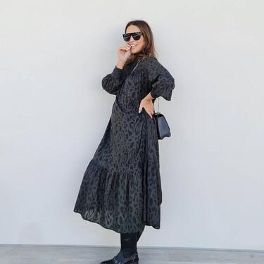 Paula Echevarría añade nueva marca a su vestidor y nos deja un look premamá con mucho rollo