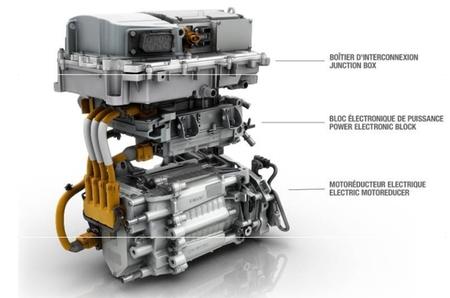 Renault ZOE motor y cargador Camaleón integrado