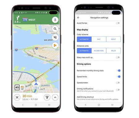 Google Maps velocímetro