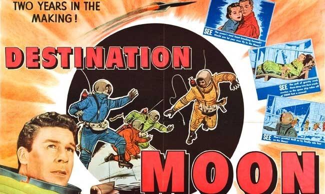 Con destino a la Luna cartel