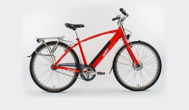 Red Mens Electric Bike Hero Image