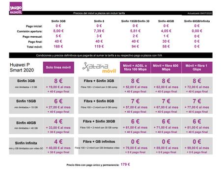 Precios Huawei P Smart 2020 Con Pago A Plazos Y Tarifas Yoigo
