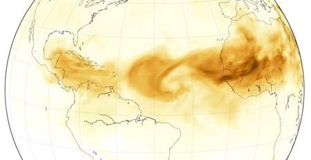 Desierto Del Sahara Mapa.Miles De Toneladas De Polvo Del Desierto Del Sahara Estan