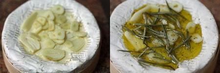 Pasos para hacer el camembert asado