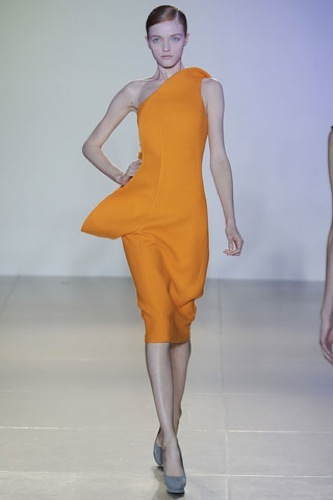 Jil Sander, colección Otoño-Invierno 2009/2010, vestido