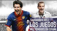 Los juegos más vendidos en España en septiembre 2012: fútbol, fútbol y más fútbol