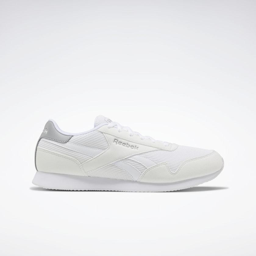 Zapatillas blancas con detalle en gris