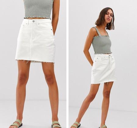 Falda Blanca Mini