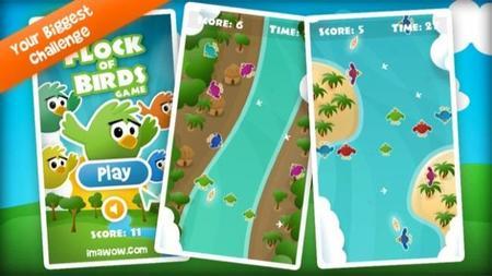 El nuevo juego de Imawow se llama Flock of birds game y es un desafío para nuestras habilidades