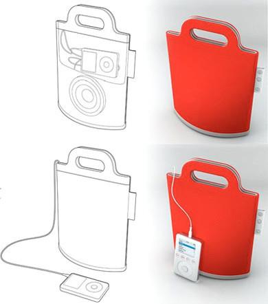 Boom Bag, concepto de bolso y altavoces para el iPod