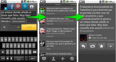 TweetDeck para Android y Deck.ly