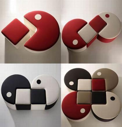 Pufs inspirados en el popular Pacman
