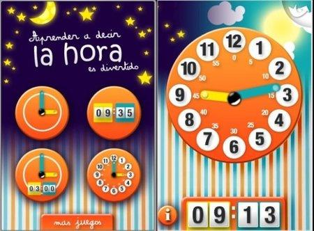 Aplicación de iPhone y iPad para aprender la hora