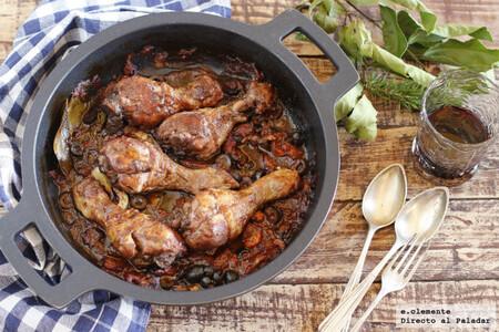 Receta de pollo alla cacciatora: un guiso de ave con el sabor de la Toscana