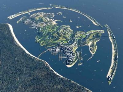 Rusia recreada por islas artificiales en el Mar Muerto