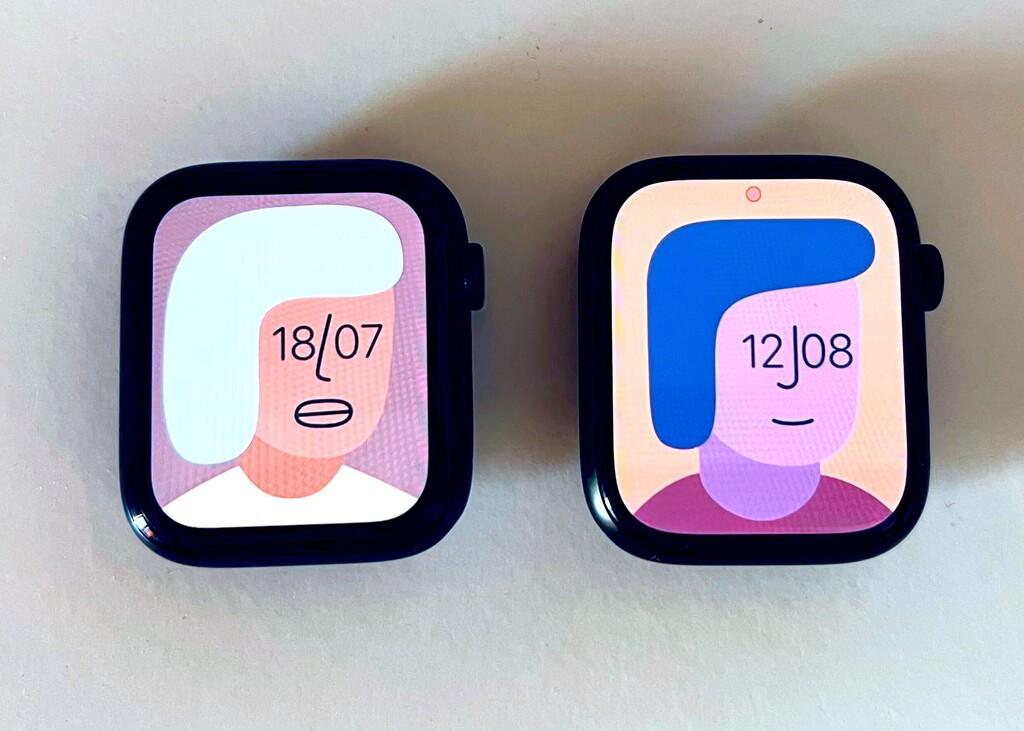 Así de grande es la pantalla del Apple Watch Series 7 comparada con el Series 6 y el Series 3