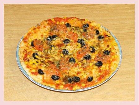 Receta de pizza con queso emmental sin lactosa