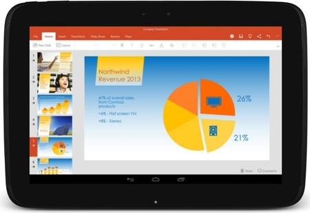 Microsoft lanza las versiones estables de Word, PowerPoint y Excel para tablets