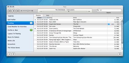 Peel, un navegador de blogs mp3