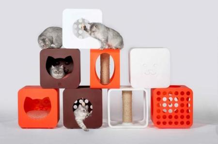 Kitty Kasa, el mobiliario modular más adorable para tus gatitos