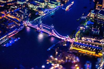 Londres a vista de pájaro y de noche, más espectacular que nunca
