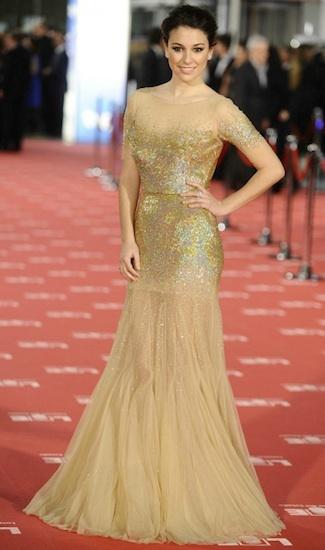 Blanca Suárez y su look en la Gala de los Goya 2012