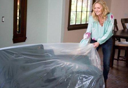 Si vas a hacer obras, no olvides cubrir los muebles