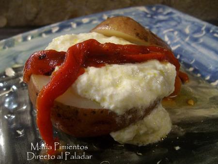 Ajo de allozas con patata y pimiento asados. Receta