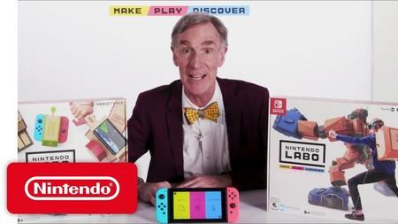 El legendario Bill 'the Science Guy' Nye se lo pasa de maravilla en el último tráiler de Nintendo Labo