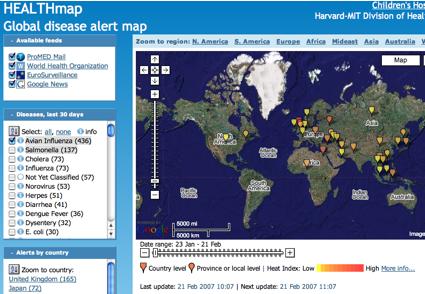 HEALTHmap, epidemias y enfermedades en tiempo real