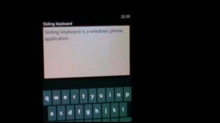 Sliding Keyboard, un nuevo teclado virtual para Windows Phone 7