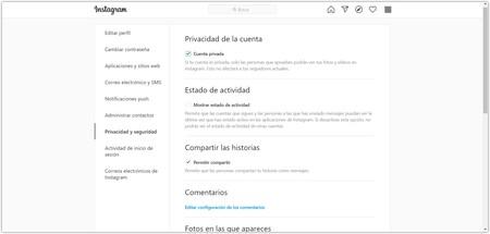 Privacidad Y Seguridad O Instagram Google Chrome