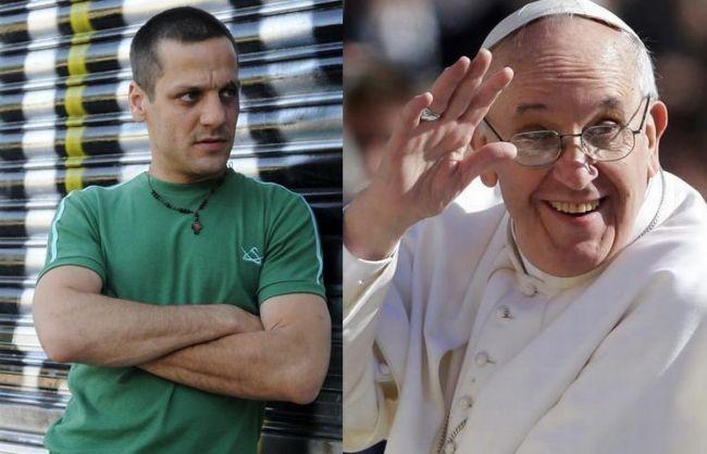 Rodrigo de la Serna y el papa Francisco I