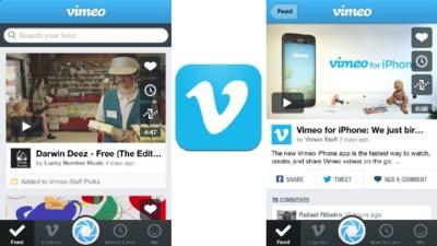 Vimeo rediseña su aplicación para iPhone haciéndola más fácil de usar