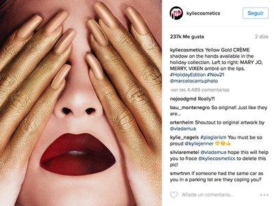 La nueva campaña de Kylie Cosmetics viene con acusación de plagio (una vez más)