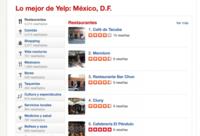 Yelp llega de manera oficial a México