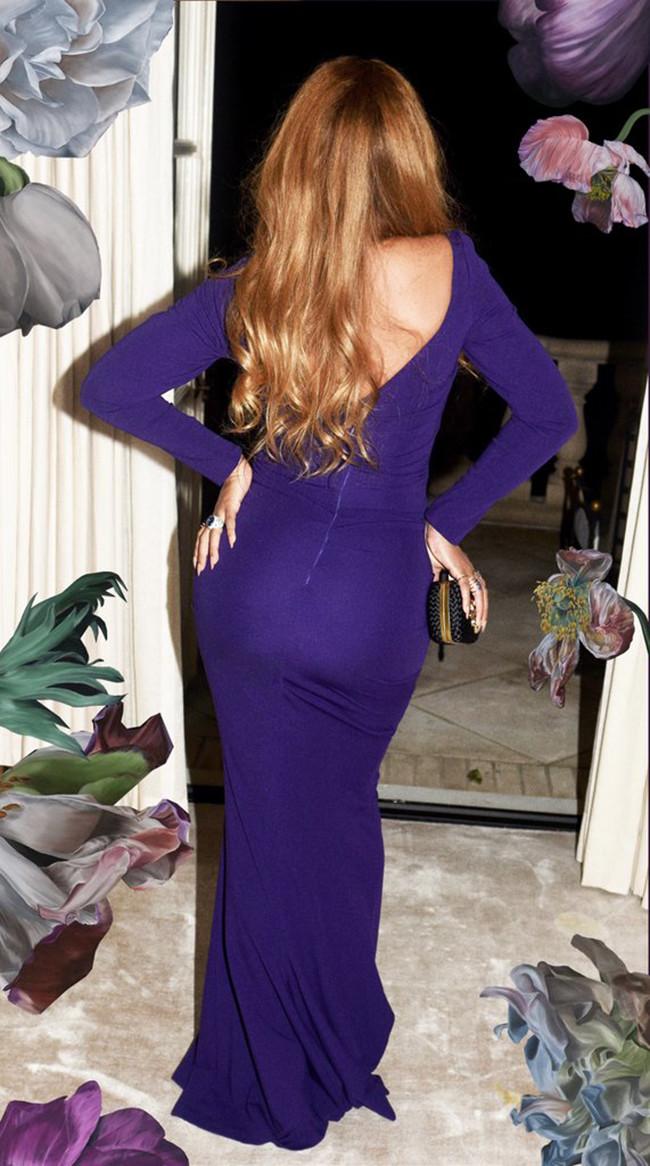 Beyonce Look Vestido Azul Indigo Nicole Miller 2