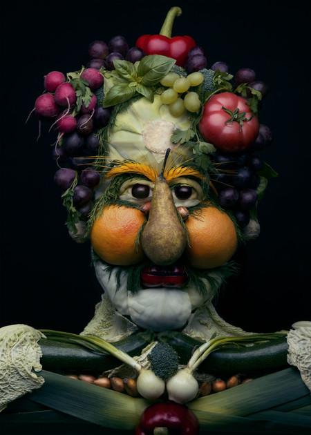 Comida de EsCultura: retratos realistas hechos con frutas y verduras