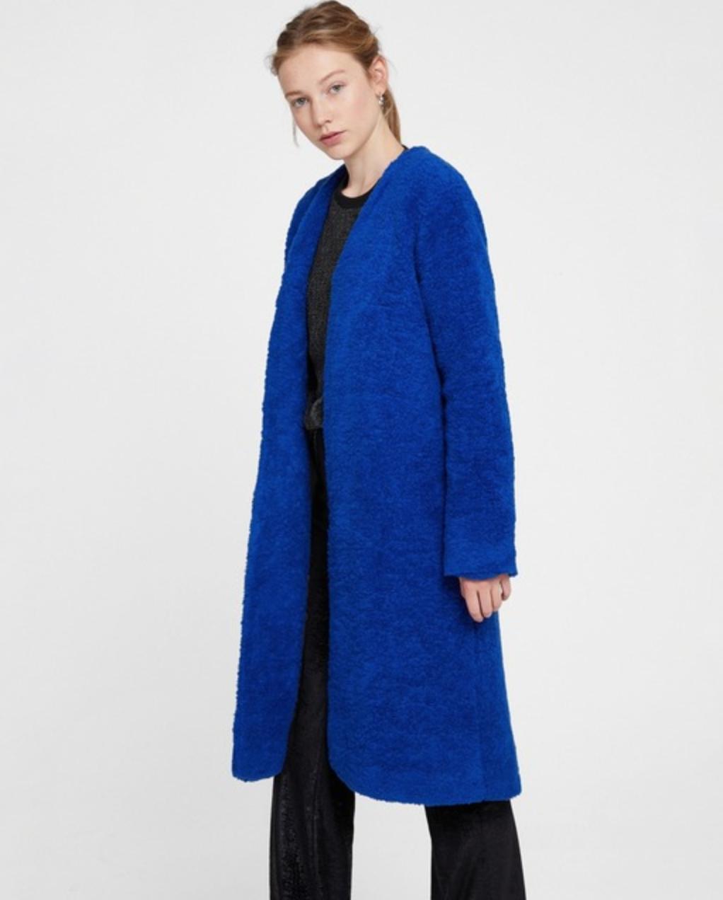 Abrigo de mujer Oxxo de efecto pelo con capucha